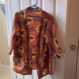 GrassFields | Bird Blouse Kimono No Tie Size 16